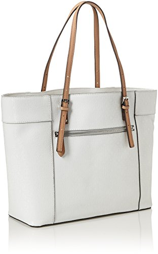 bba82201ffb1 GUESS Women s Delaney Medium Classic Tote Tote Bag white white  Amazon.co.uk   Shoes   Bags