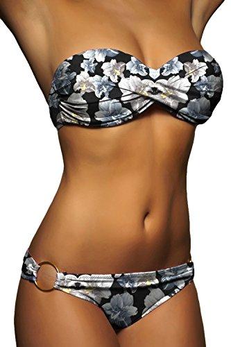 De Bas Haut Bain Pour Torsadé Maillot Alzora A29 Femme Ensemble Bandeau Bikini 50001 Pigeonnant xvwq0pP