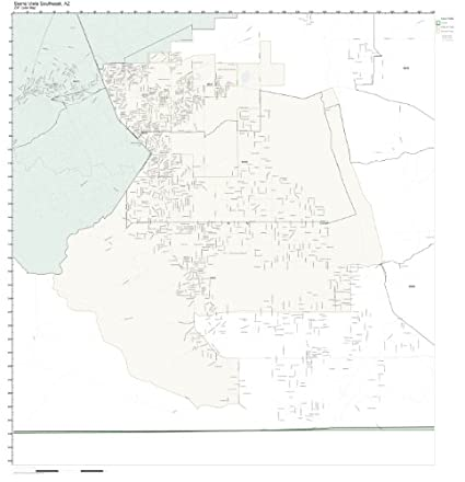 Sierra Vista Zip Code Map.Amazon Com Zip Code Wall Map Of Sierra Vista Southeast Az Zip Code