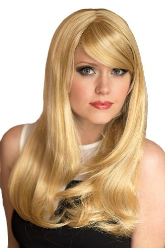 De largo Natural Annabelle de las pelucas un número muy, de color dorado y de