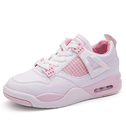 de Senderismo otoño Mujer Cordones Estudiante Zapatos Informales Zapatillas Pink Zapatos con vulcanizados de Transpirable de de GUNAINDMX Zapatos Cuñas SqaxAIO