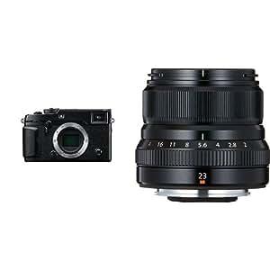 """Fujifilm X-Pro2 - Cuerpo de cámara EVIL de 24 MP (sensor X-Trans CMOS III, tamaño APS-C, pantalla LCD de 3"""", ISO 51200), color negro + Fujifilm Fujinon XF 23 mm - Objectivo fijo (35mm, f/2, 1:2, 43 mm), color negro"""