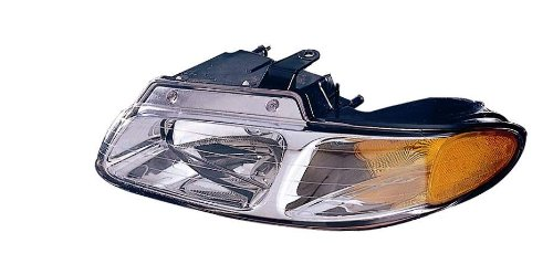 Driver Side Plymouth (Depo 333-1110L-ASN Dodge Caravan/Plymouth Voyager Driver Side Replacement Headlight)