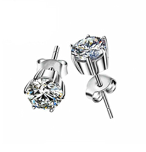 GOWE Fashion Pure 18K Solid White Gold Moissanite Stud Earrings For Women Round Brilliant 1.2 Carat VVS G H