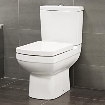 square toilet seat fittings. 600 Compact Small Mini Short Projection Close Coupled Space Saver Square  Toilet Soft Quick Release