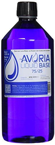 AVORIA – Liquid Base 75/25 zur Herstellung von eigenen Liquids für E-Zigaretten, Vaper und Dampfer | Basis – Made in…