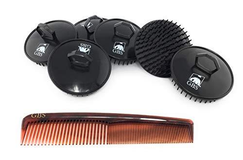 GBS Invigorating Shower Shampoo Scalp Hair Brush Black Pack of 6 and GBS Tortoise Dressing Comb