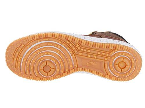 Nike Lunar Force 1 Duckboot, Zapatillas de Baloncesto para Hombre Negro / Marrón / Amarillo / Blanco (Black / Lt Brtsh Tan-Gld Drt-Wht)