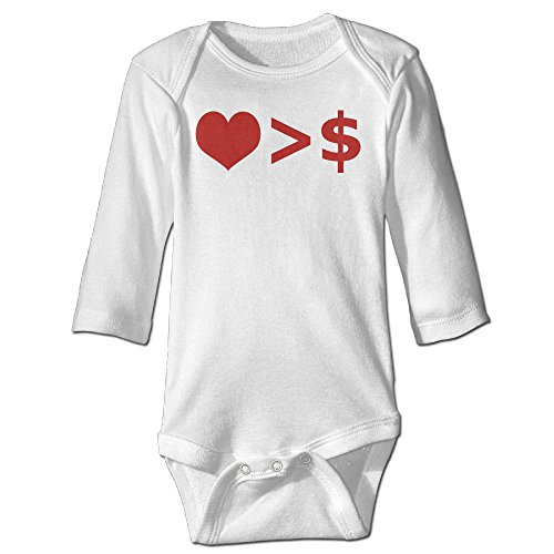 Funny Vintage Unisex Love And Money Climb Sleepwear Clothes Infant Baby's