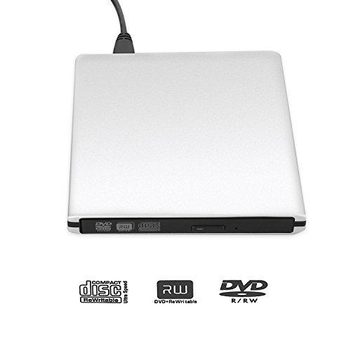 LeeKooLuu USB 3.0 External Ultra Slim DVD Burner Drive Aluminium DVD-RW/CD-RW Burner Super Drive (Silvery) (USB 3.0 Slivery) by LeeKooLuu (Image #3)