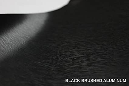VVIVID/® Black Brushed Steel Vinyl Wrap Roll with Air Release Technology 3ft x 5ft