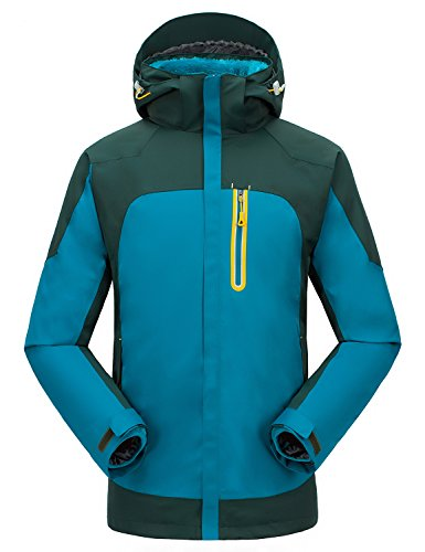 MOCOTONO Women's Rain Waterproof Winter Jacket Sports Snow Ski Outdoor Coat Light Blue Medium