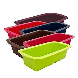 Marathon Housewares Premium Silicone Loaf Pans, Multiple Colors
