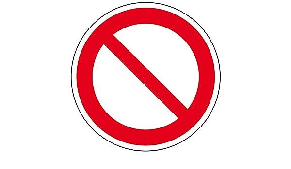 marca de prohibici/ón precortadas Pegatinas de prohibido en general seguridad en el trabajo prohibido en general 5 cm prohibidas carteles 1 autoadhesivas