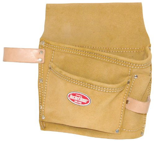 Suede Utility Bag (Bucket Boss 54489SP Suede Leather 3-Pocket Nail and Tool Bag with)