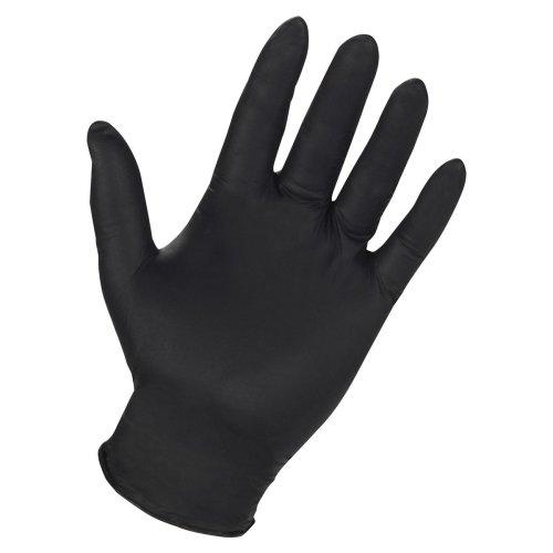 Genuine Joe 15372 Nitrile Gloves 6Mil Large 3/PK Black
