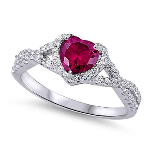 art deco ruby ring - 3