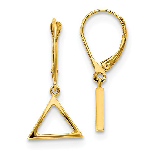Leslie's 14K Polished Triangle Dangle Leverback Earrings, 14 kt Yellow Gold