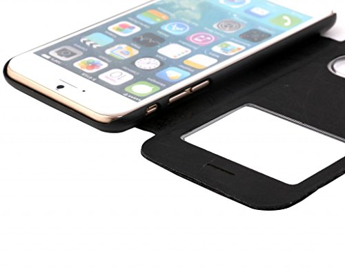Iphone 6/6s S View Black Case Cover for Apple Iphone 6/6s by G4GADGET®