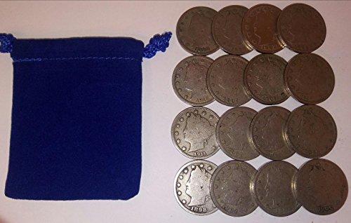 Count Of 16   Liberty Head  Barber  Nickels