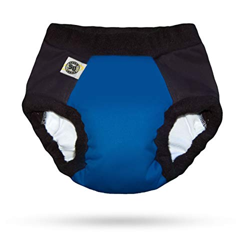 Super Undies Bedwetting Nighttime Underwear Bat Boy (Dark Blue) Size 2 (Large) 4-6 Yr Old