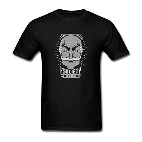 White navy Retro White Mustache Old Man Mask Design T-Shirt for Men -