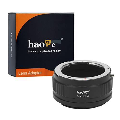 Haoge Manual Lens Mount Adapter for Contax/Yashica C/Y CY Mount Lens to Nikon Z Mount Camera Such as Z6 Z7