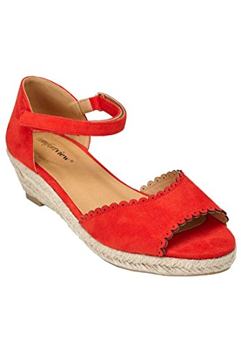 Comfortview Womens Wide Charlie Espadrilles New Hot Red 3u3t6hfE