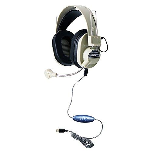 HMLHA66USBSM - Hamilton Buhl Deluxe USB Headset with Gooseneck (Encore Binaural Headset)