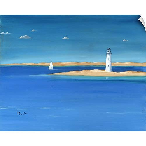 Serenity Lighthouse - CANVAS ON DEMAND Serenity - St. George Lighthouse Wall Peel Art Print, 24