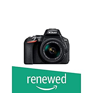 (Renewed) Nikon D5600 Digital Camera 18-55mm VR Kit (Black)