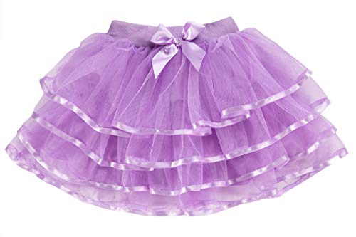 storeofbaby Girls Pleated Tutu Skirt for Toddler Christmas Halloween Pettiskirt Costume Purple]()