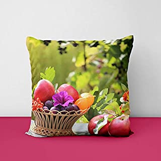 41o flnaoJL. SS320 Fruit Basket Nature Square Design Printed Cushion Cover