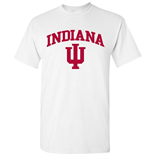 UGP Campus Apparel University of Indiana Hoosiers Arch Logo T-Shirt - 3X-Large - White