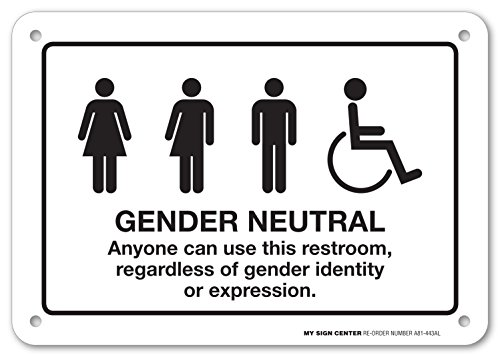 (Gender Neutral Anyone Can Use This Restroom, Regardless of Gender Identity or Expression Sign - 10