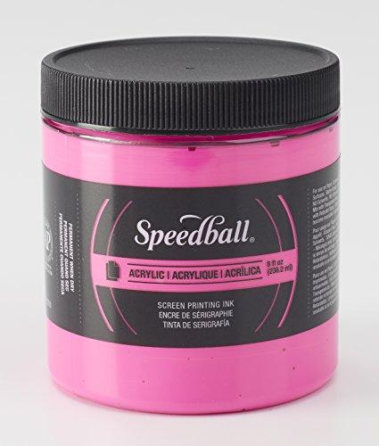 Speedball 046216 Acrylic Screen Printing Ink, 8 Fl. oz, Fluorescent Magenta by Speedball