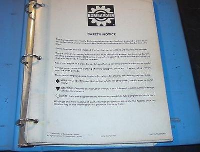 1981 Moto Ski   Ski Doo Shop Manual Supplement Blizzard   Super Sonic Info  990