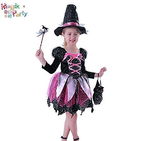 fixiyue Disfraz De Halloween Niños Realizan Traje Chica Bruja ...