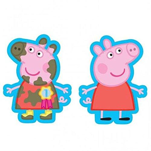 Peppa Pig à 2 faces Ballon Aluminium Forme avec Numéro 1 Rosette