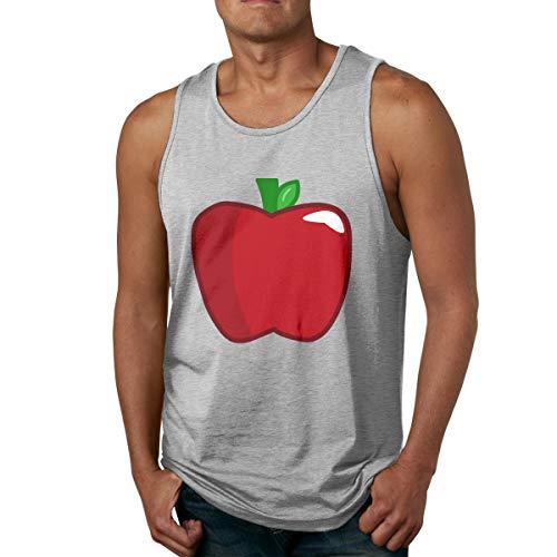 (Men's Tank Tops Gym Vests Shirt Red Fruit Apple Bodybuilding Workout Vest)