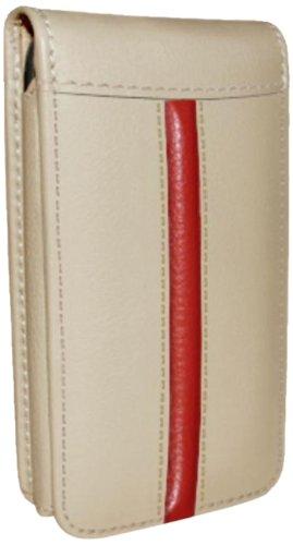 Piel Frama Ledertasche Classic Magnetic RACE Edition Beige/Rot für Apple iPhone 5 / 5S