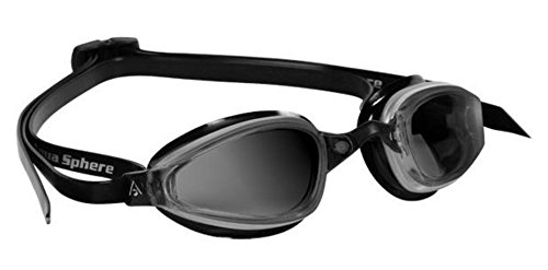 MP K180 Micro Swim Goggle (Dark Lens / Silver & Black)