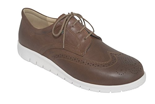 Finn Comfort - Zapatos de cordones para hombre marrón Saddle *