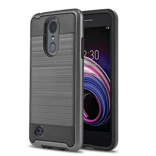 (Phone Case for [LG Rebel 4 LTE (L212VL, L211BL)], [Protech Series][Gun Metal] Shockproof Cover [Impact Resistant][Defender] for Rebel 4 LTE (Tracfone, Simple Mobile, Straight Talk, Total Wireless))