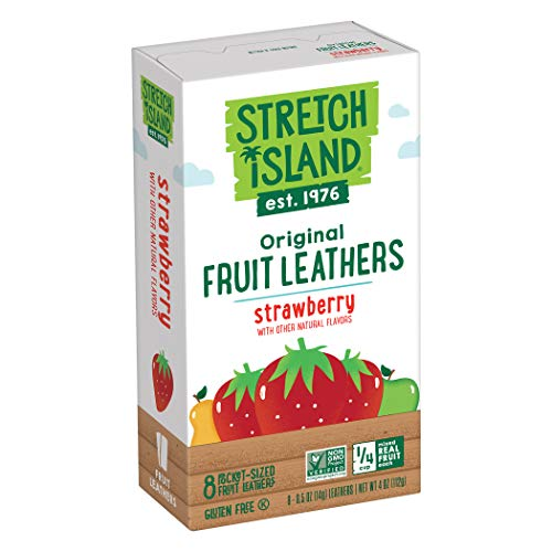 Stretch Island Strawberry Original Fruit Leather Snacks – Vegan | No Sugar Added | Gluten Free | Non-GMO | No Sugar Added – 0.5 Oz Strips (72 Count) Review