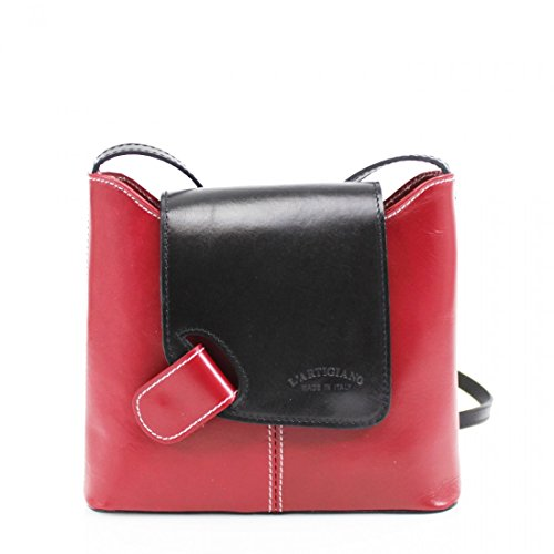 Body Great Leather Cross Handbags Red LeahWard® Black Bags Genuine Italy Body Brand Across IqTpwHOxw