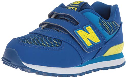 New Balance Boys' Iconic 574 Hook and Loop Sneaker, Team Royal/Laser Blue, 10 M US - Boys Shoes Wide Balance New