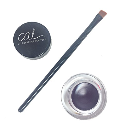 Cai Cosmetics 2 Piece Waterproof Gel Eyeliner & Brush Set (Plum Purple)