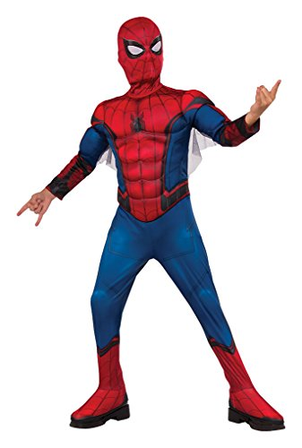 Faerynicethings Child Size Deluxe Muscle Chest Spiderman Costume with Web Wings - Small - Size -