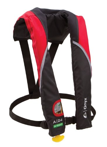 Onyx A-24 In-Sight Automatic Inflatable Life Jacket, Red